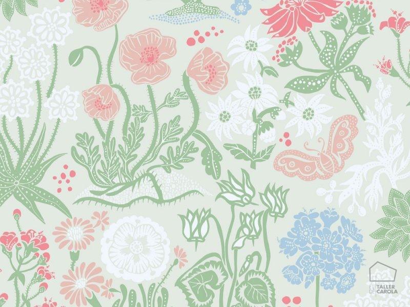 059592_28_lot_fam Papel Pintado Nordico Vintage Flores
