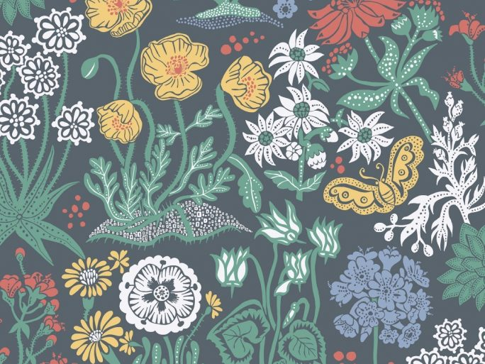 059592_91_lot_fam Papel Pintado Estilo Nordico Flores