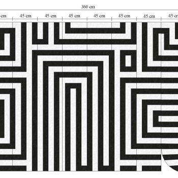 059633_08ran Papel Pintado Negro geométrico