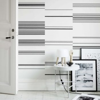 059634_01ran papel pintado rayas horizontal negro - Papel Pintado Rayas Horizontales