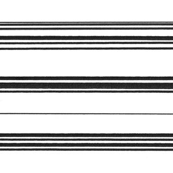 059634_01ran Papel Pintado Rayas Horizontal Negro