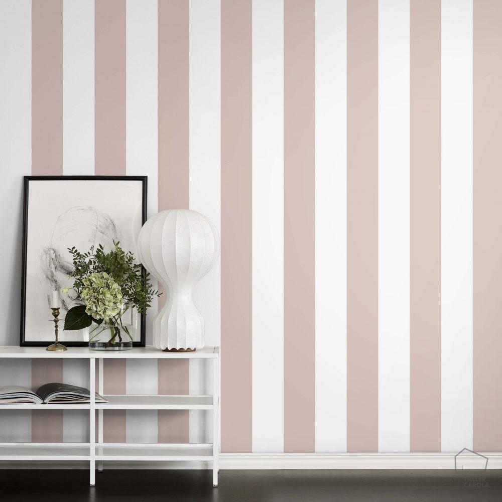 Papel pintado rayas rosa el taller de carola - Papel pintado rosa ...