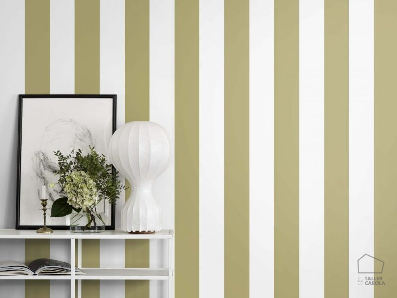 Rayas el taller de carola for Papel pintado rayas verdes