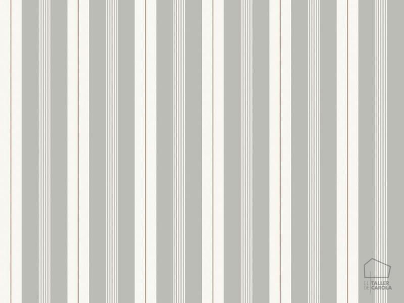 Rayas el taller de carola for Papel pintado rayas grises