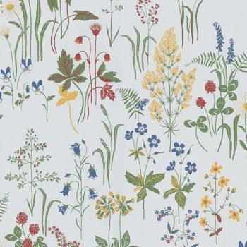 059floflo553_01 Papel Pintado Vegetal Flores Blanco
