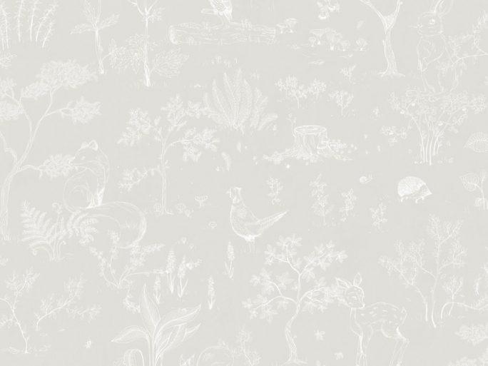 Papel Pintado Infantil HOL Bosque Gris