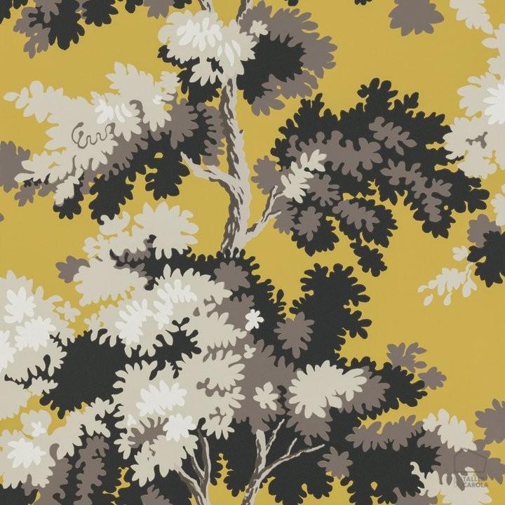 Papel Pintado RAP Árboles Amarillo