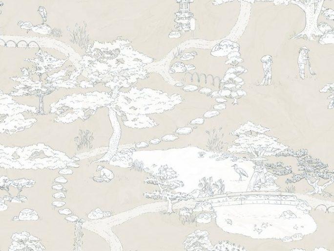 Papel Pintado PAISAJE JAPONES Piedra