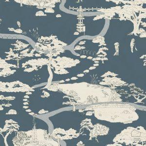 Papel Pintado PAISAJE JAPONES Azul