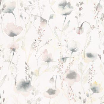 059oas226_18 Papel Pintado Flores Acuarela Rosa