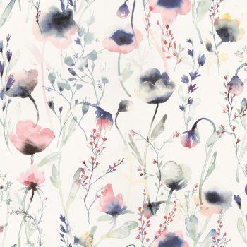 059oas226_34 Papel Pintado Flores Acuarela Rosa