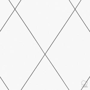 Papel Pintado ROB Geométrico Rombos Blanco