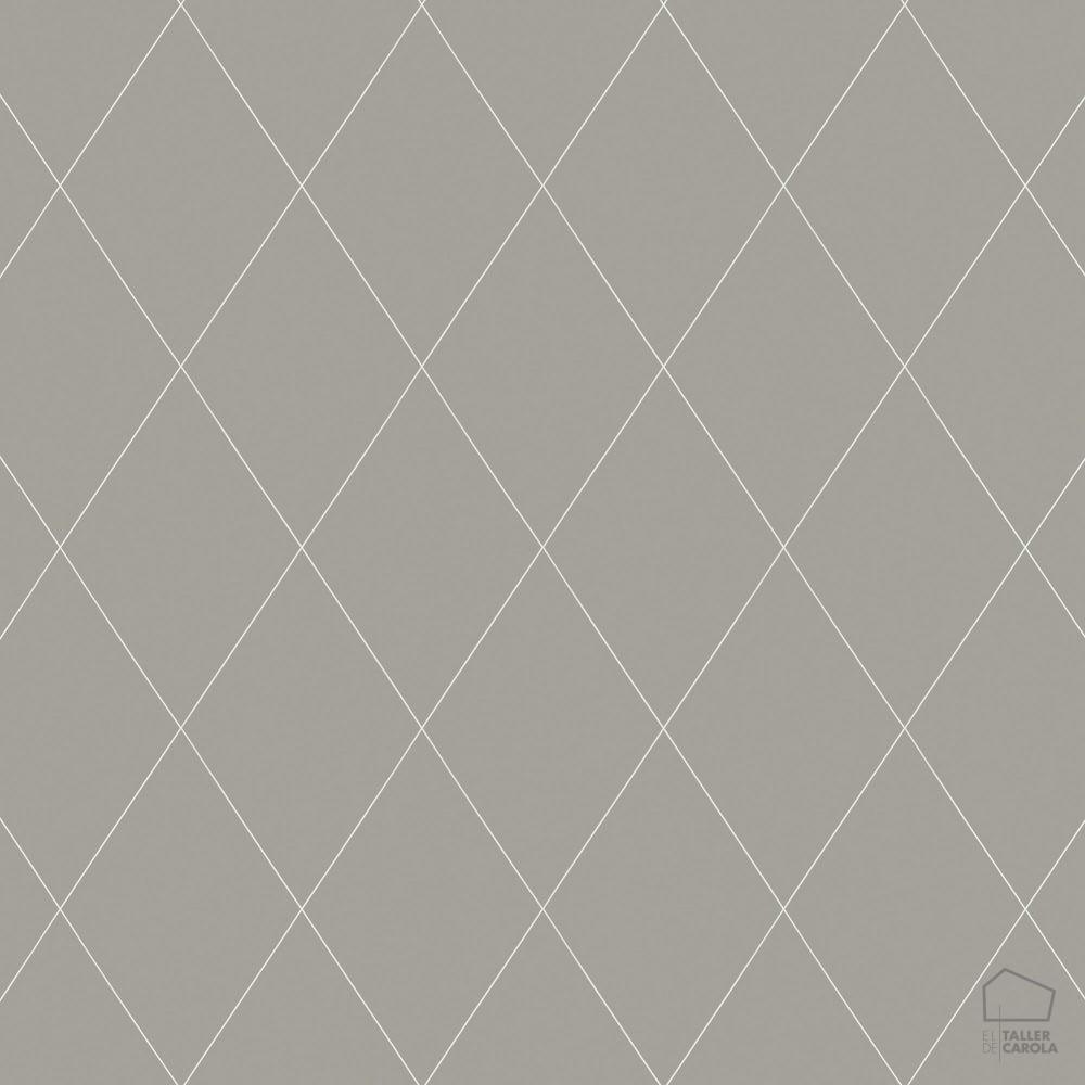 059oas436_41 Papel Pintado Geometrico Nordico Rombos Gris