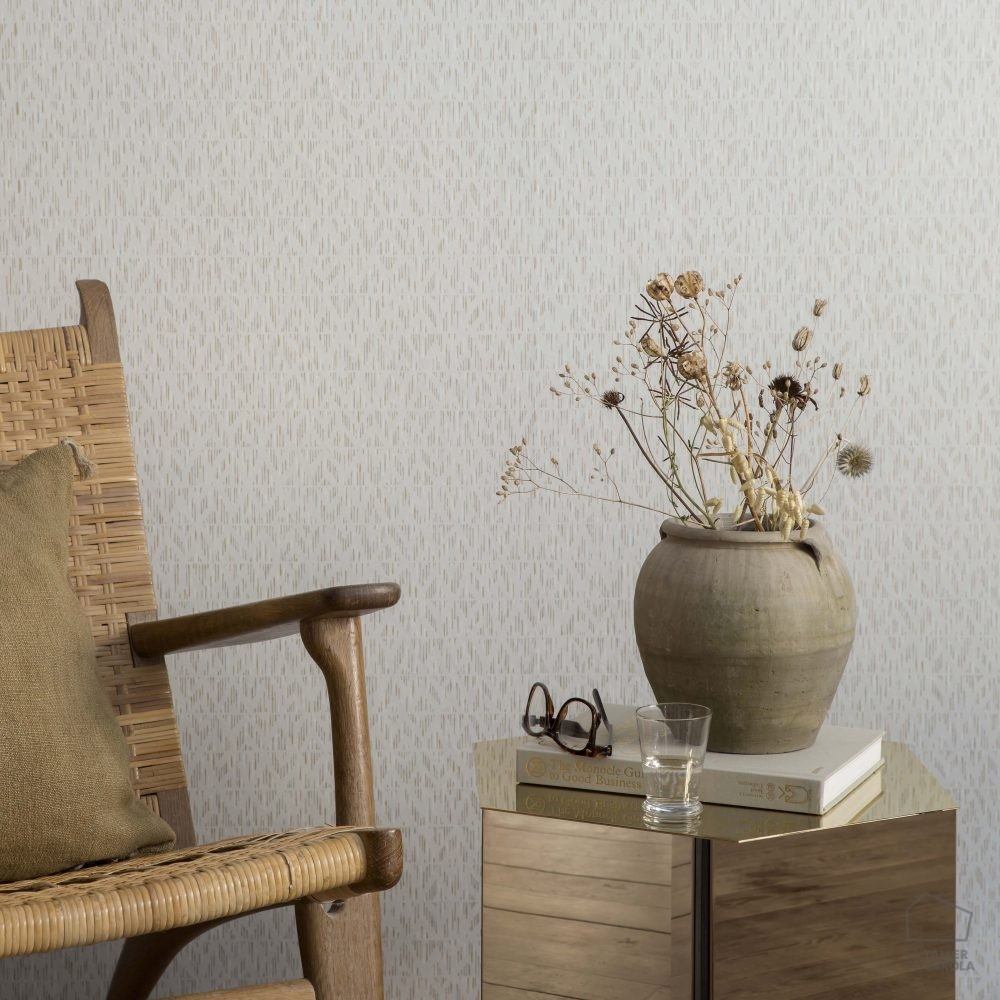 Papel pintado id estampado geom trico n rdico gris el for Papel pintado estampado