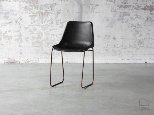 0680815130bl Silla Cuero Vintage Negro
