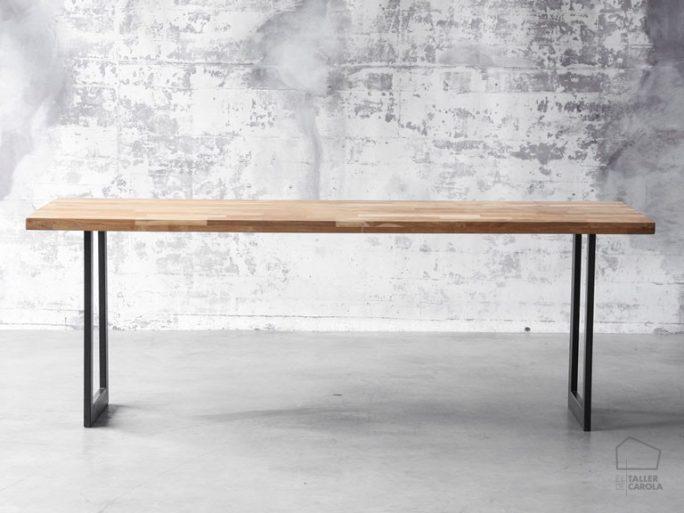 068100001 mesa industrial madera y hierro