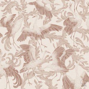 Papel Pintado CRAN Pájaros Rosa