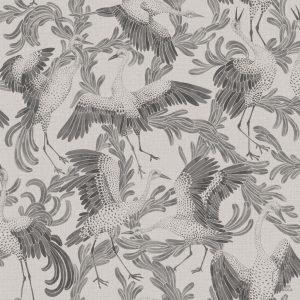 Papel Pintado CRAN Pájaros Gris Oscuro