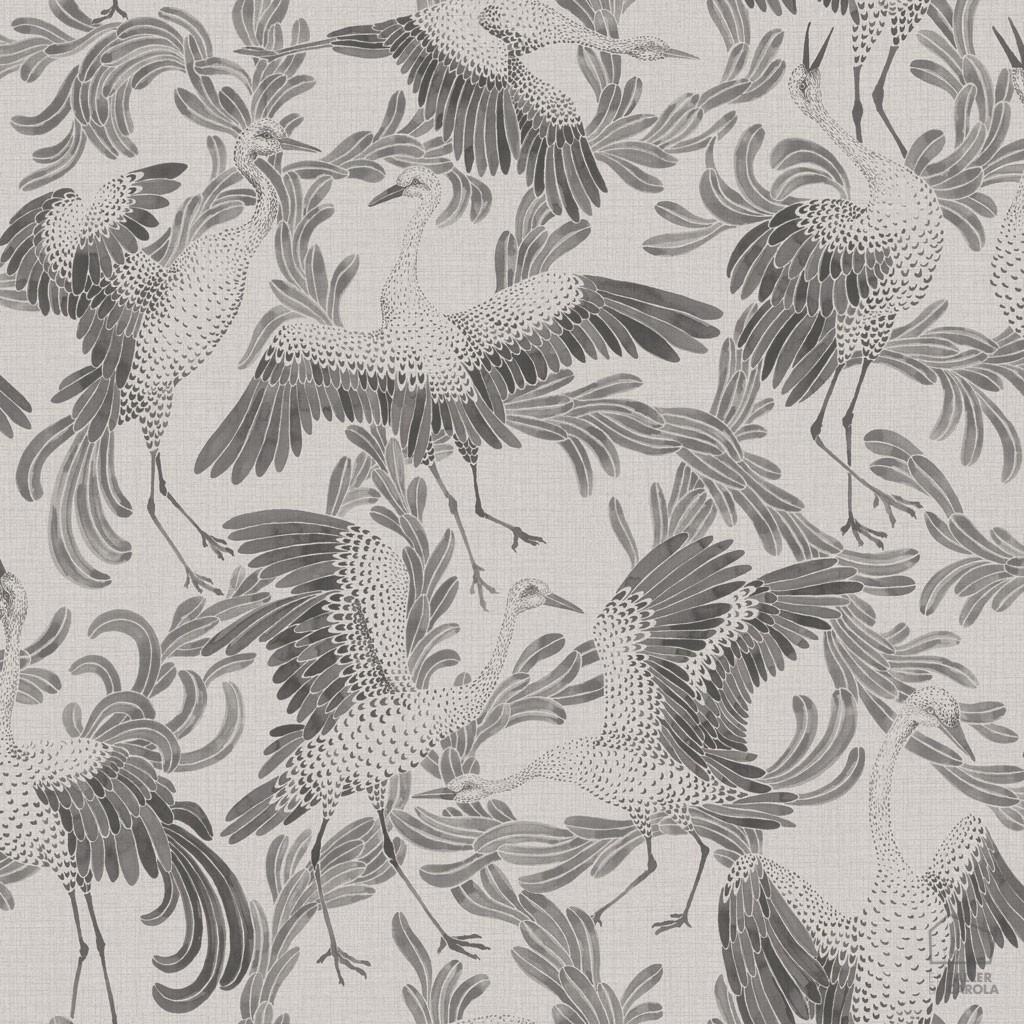 0693652_sim_cran Papel Pintado Animales Pájaros Gris