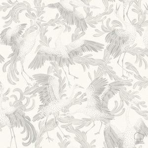 Papel Pintado CRAN Pájaros Gris