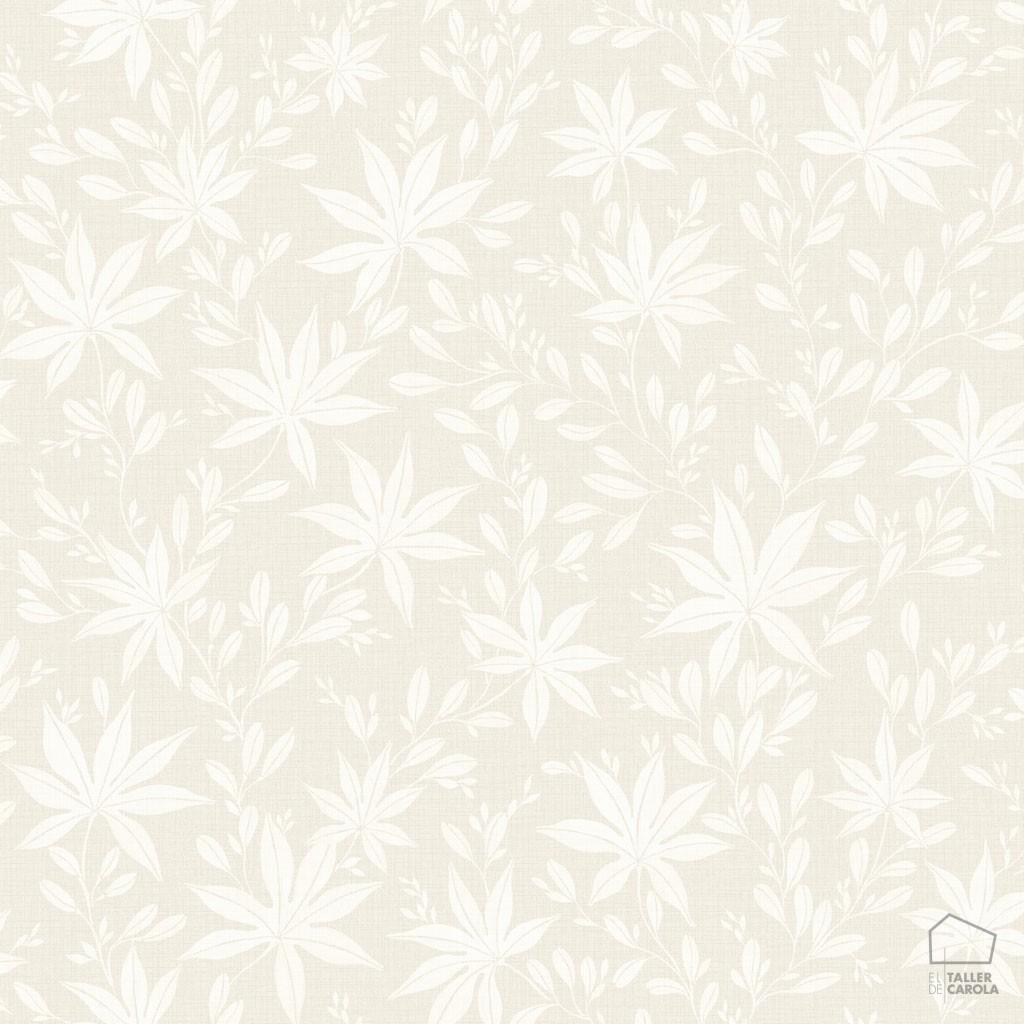 Papel pintado hoja arce beige el taller de carola for Papel pintado hojas