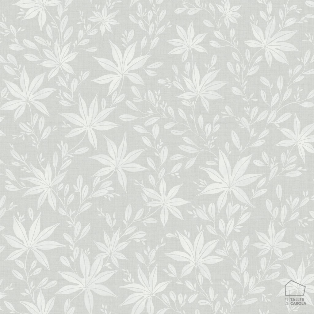 Papel pintado hojas verde empolvado inspiraci n naturaleza for Papel pintado hojas verdes