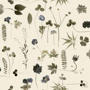 Papel Pintado Botánica Azul