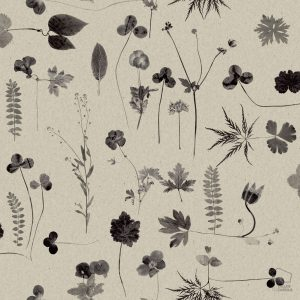 Papel Pintado Botánica Gris