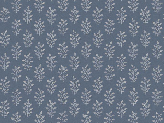 0693666_sim_blo Papel Pintado Vegetal Flores Azul