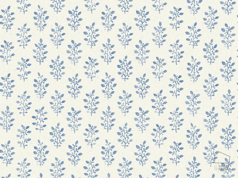 0693667_sim_blo Papel Pintado Vegetal Flores Azul