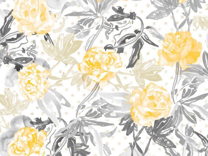 papel pintado flores acuarela rosa el taller de carola On papel pintado pato azul y amarillo mostaza