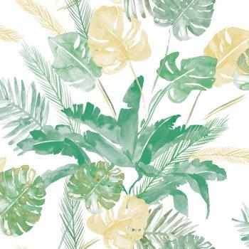 0694800021lar Papel Pintado Tropical Verde