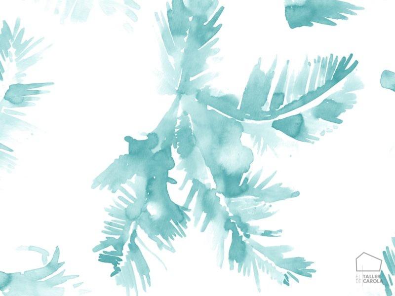 0694800041lar Papel Pintado Vegetal Azul