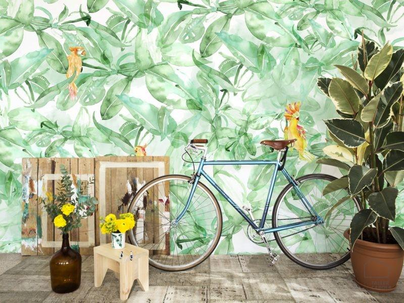 0694800074lar Mural Papel Pintado Vegetal Verde