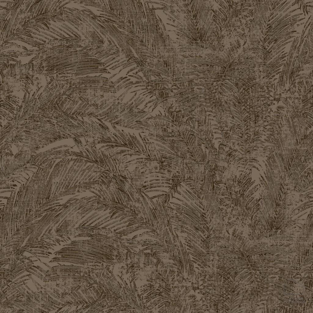 Papel pintado hojas palmera marr n inspiraci n vegetal for Papel pintado tonos marrones
