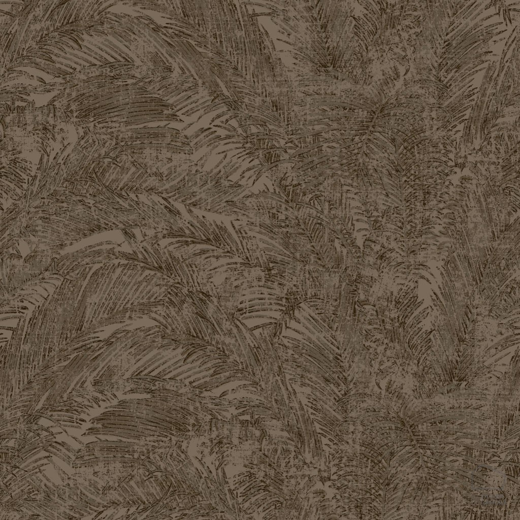 Papel pintado hojas palmera marr n inspiraci n vegetal for Papel pintado color marron