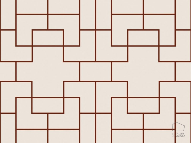 0696300021_tem Papel Geométrico Rojo