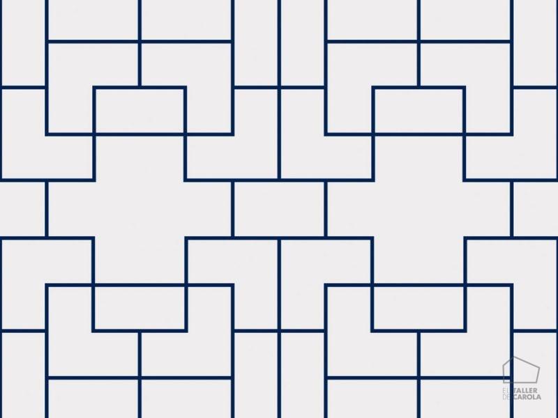 0696300022_tem Papel Pintado Geométrico Azul