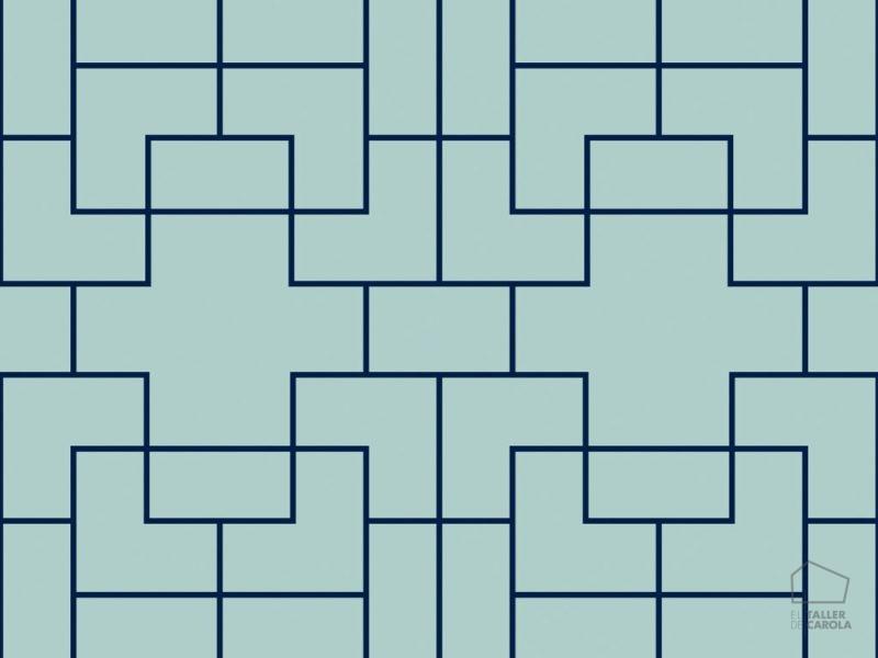 0696300024_tem Papel Pintado geométrico Verde Agua