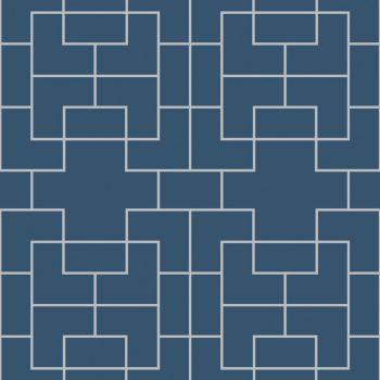 0696300025_tem Papel Pintado geométrico Azul