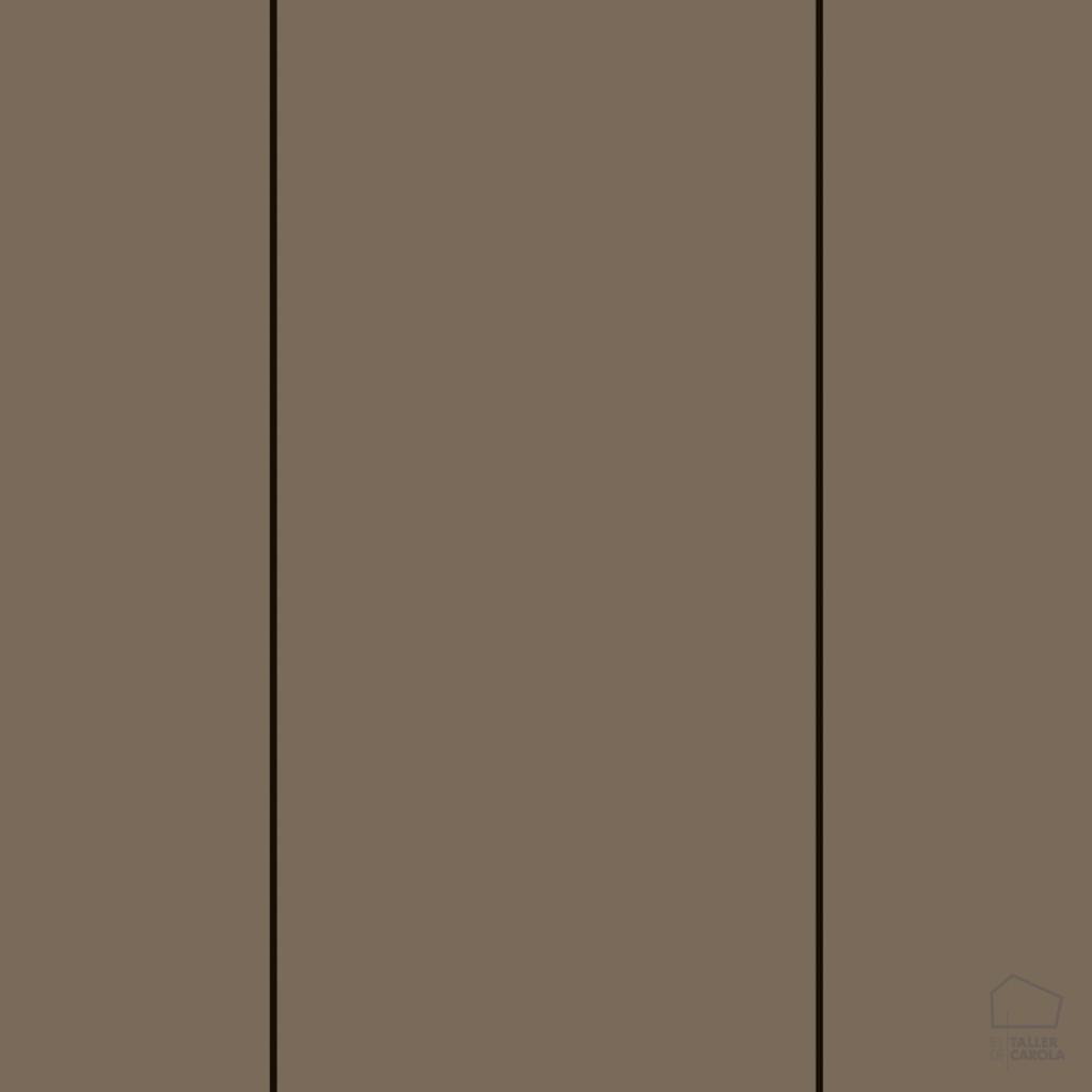 Papel pintado rayas marr n el taller de carola for Papel pintado color marron