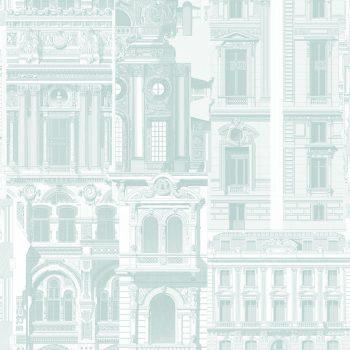 0696300074_tem Papel Pintado Arquitectura verde agua
