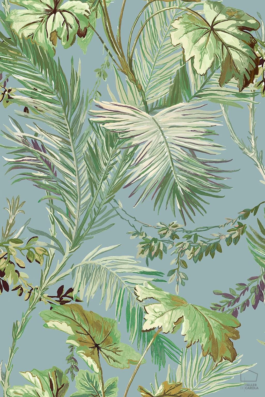 0698800003met-veg-papel-pintado-vejetal-hojas-azul