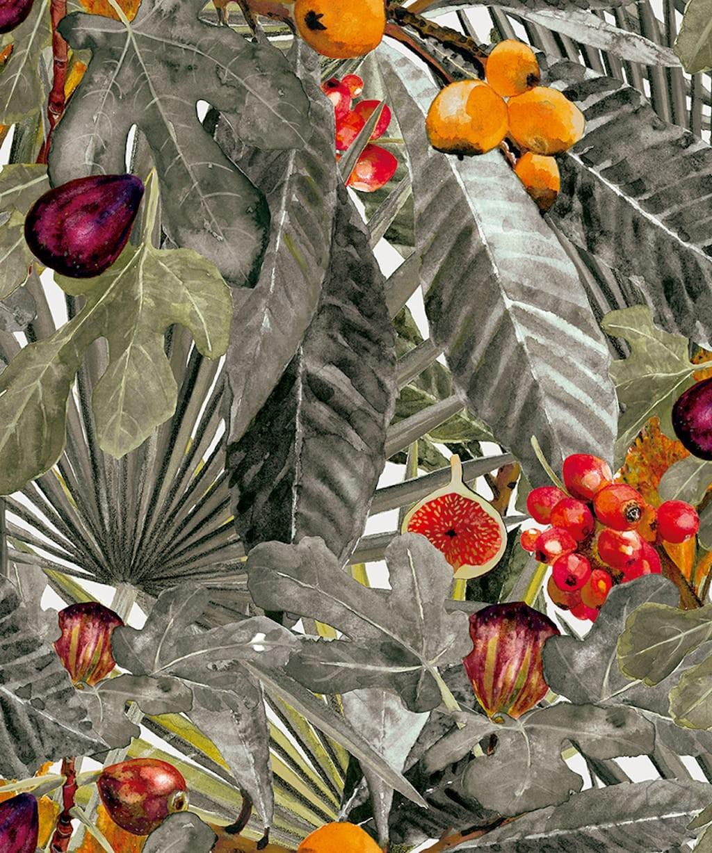 0698800008met-veg-papel-pintado-hojas-vegetal-frutos-gris