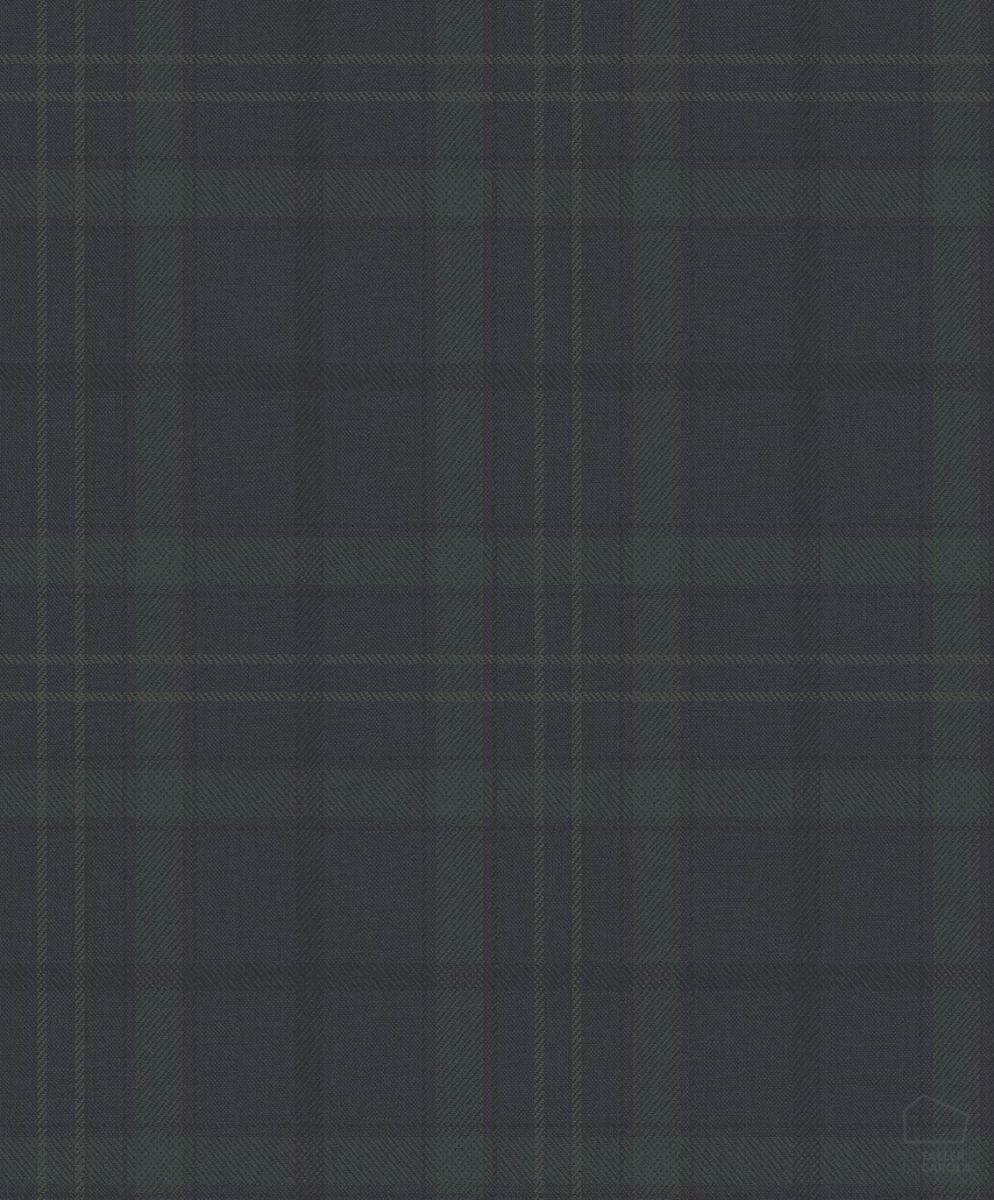 Papel Pintado Cuadros Escoceses Azul