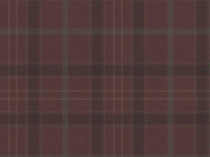 Papel Pintado Cuadros Escoceses Burdeos