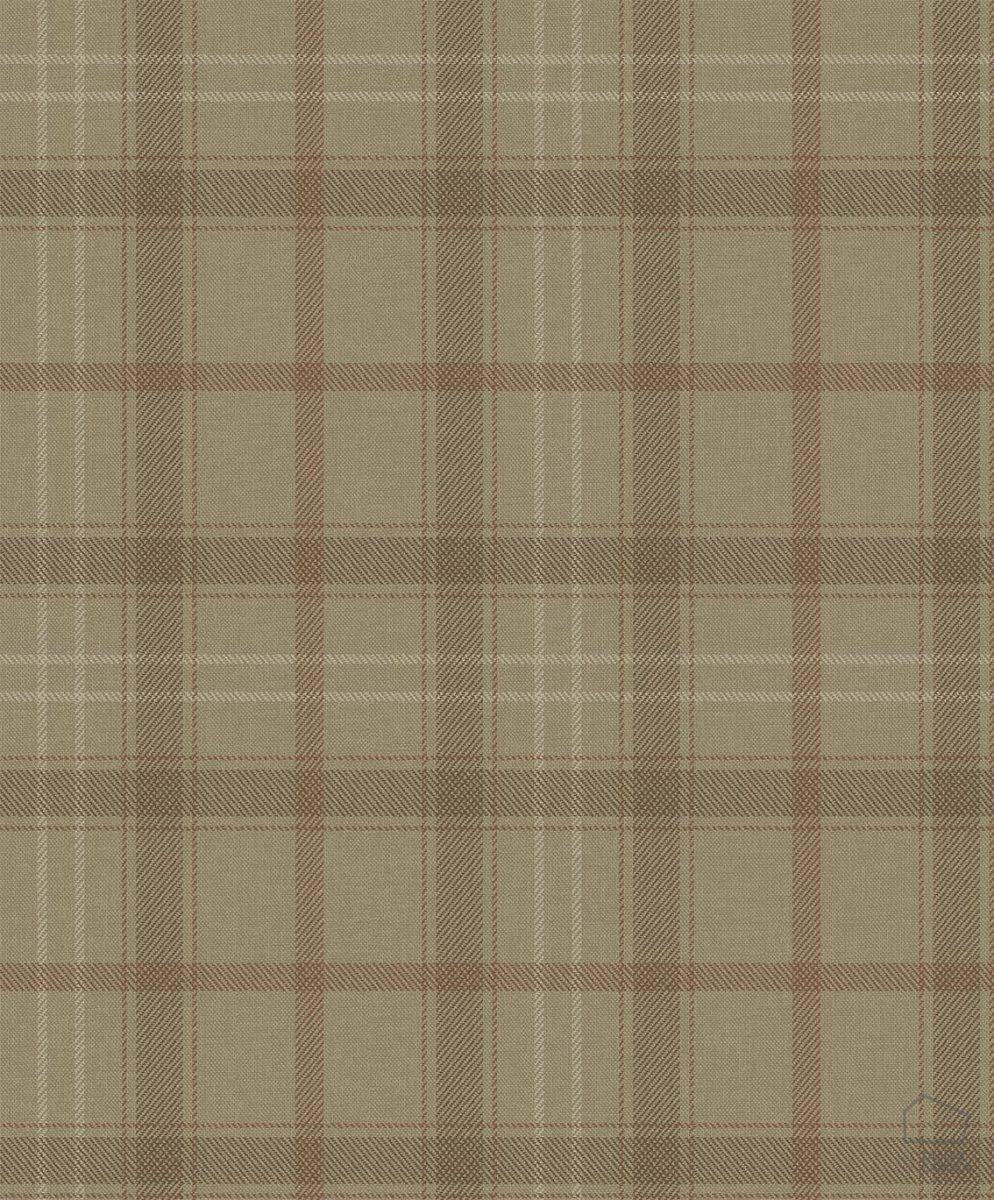 Papel Pintado Cuadros Escoceses Marrón