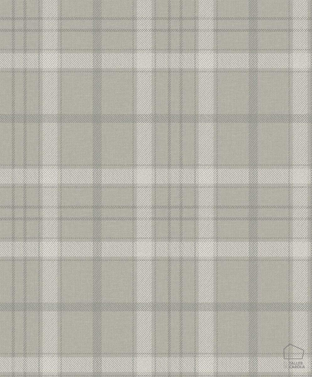 Papel Pintado Cuadros Escoceses Gris