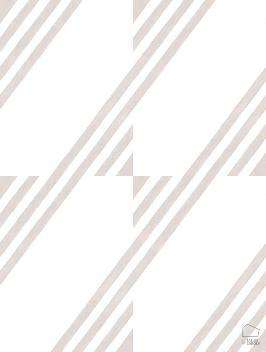 Papel Pintado GUA Geométrico Piedra