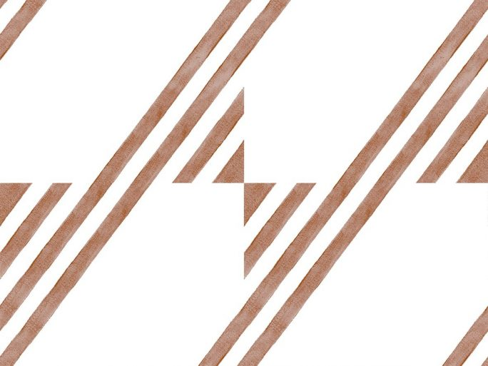 Papel Pintado GUA Geométrico Cereza